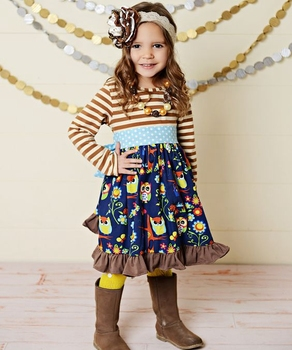 Mire style special trendy girl fall baby maxi dress wholesale picnic clothing