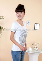 Custom Made Rhinestone Design T shirts Manufacturer High Quality Made In China