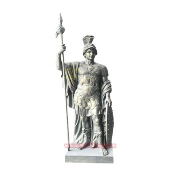 Hot Sale Garden Ornaments Cnbdglory Fiberglass Products Roman Soldier Statue