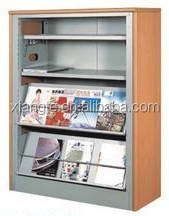 steel display shelf rack for newspaper