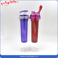 New 750ML Travel Clear Bottle Sport Fruit Juice Water Cup Portable Bag