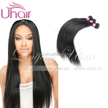relaxed 5A brazilian straight hair for black women