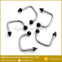 Stainless Steel U Bar Ball Lip Labret Ring Piercing Jewelry