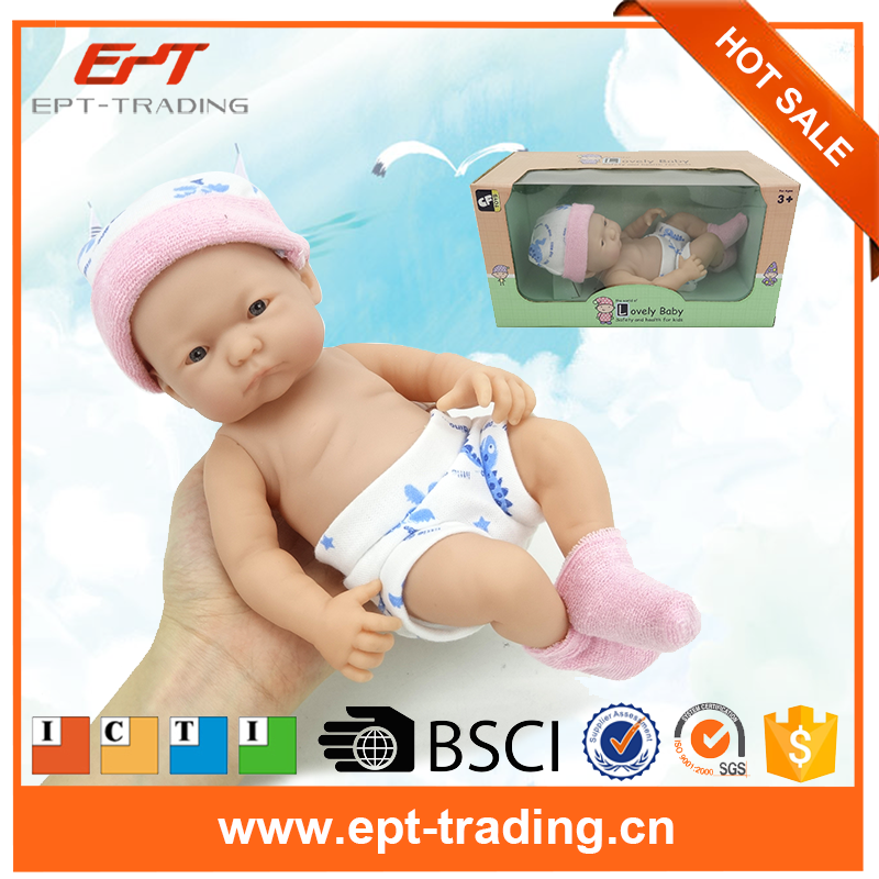 Alive 9.5inch silicon reborn baby doll toy with certificate