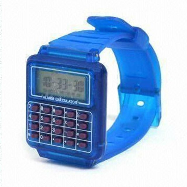 new calendar watch,silicone calculator watch