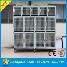 Customized iron dog transport cage with wheels