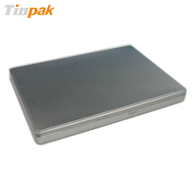 silver a4 size document hinged tin box