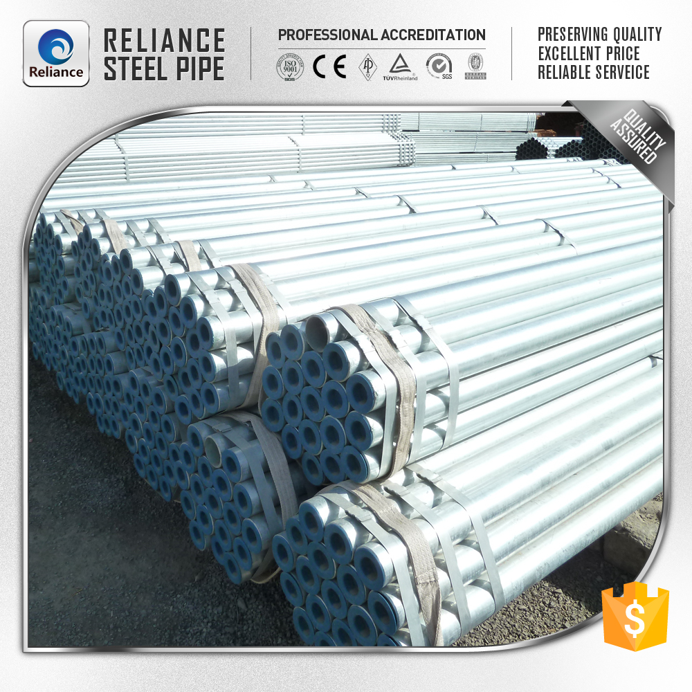 INNER THREADING DN 100 ROUND GALVANIZING STEEL PIPES, CASING GI STEEL PIPES