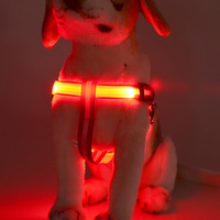 2016 Colorful High-Light LED dog harness,Flashing LED safe pet collar ,dog led collars and leashes