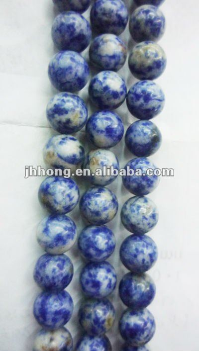 natural indigo lapis lazuli round amber beads for jewelry