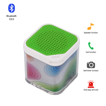 Customized background pictures good sounds portable lens bluetooth speaker with remote