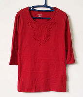 RED 3/4 SLEEVE SHIRT