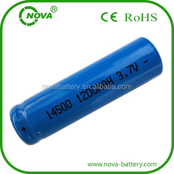 3.7v 1200mah icr 14500 li-ion rechargeable battery manufacturer