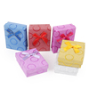 YiWu fancy packing cardboard paper gift set box with ribbon