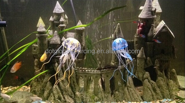 Hot Iterms Colorful Artificial Aquarium Fish Tank Decorative Ornament Simulation Silicone Jellyfish