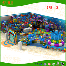high quality indoor playground/foam pipe/plastic ball/big stainless steel slides