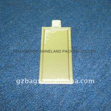 Square gold silver foil laminated cake bases