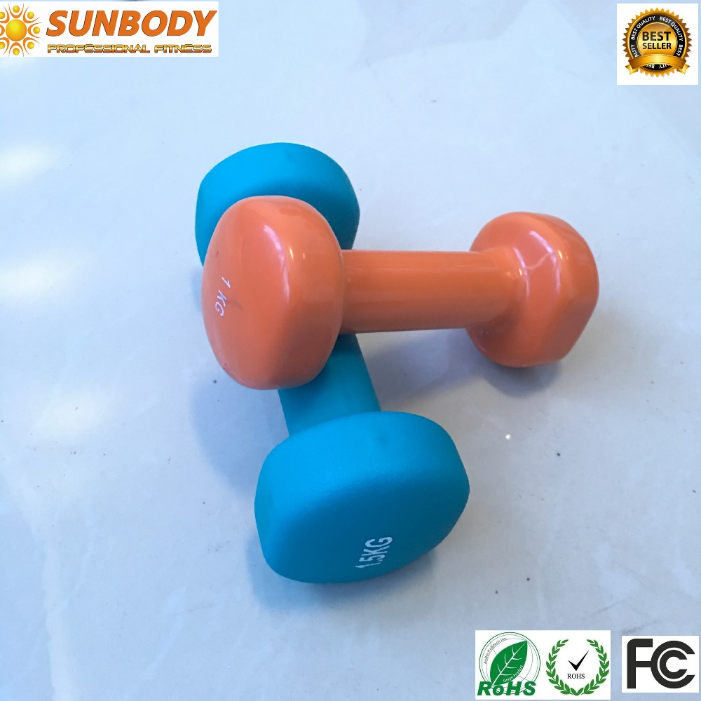 Color PVC Dipping Dumbbell Vinyl Coated Plane Dumbbell vinyl dumbbell set