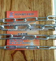 galvanized long link chains German standard link chains