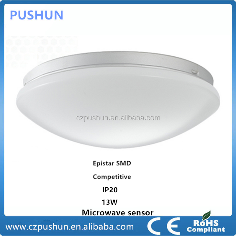 Engergy Saving & Intelligent & popular microwave sensing led ceiling lamp