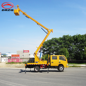 China dongfeng 4X2 4x4 6 wheel Left hand drive Euro 3 12m Aerial Cage Truck for sale