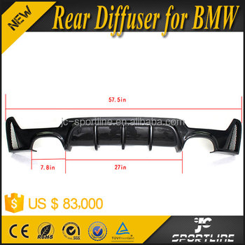 P Style Carbon Fiber F32 Rear Diffuser Spoiler Fit for BMW F32 M tech Bumper only