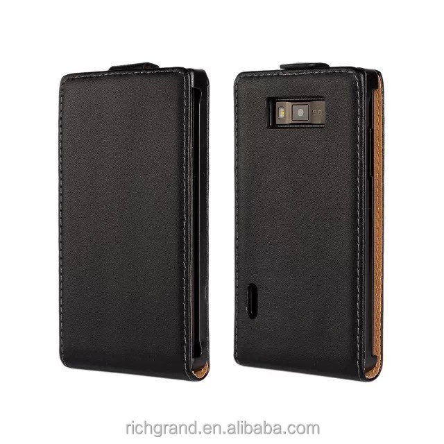 High Quality Leather Flip Case Cover Case for LG Optimus L7 P705