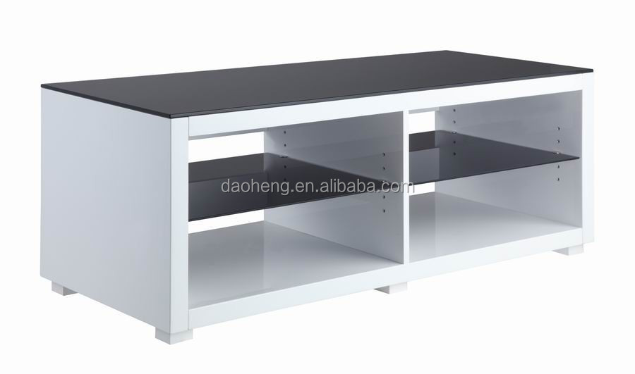 2015 modern design and good price tempered glass lcd tv table