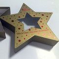 Star shaped Xmas candy box, fancy gift box Xmas gift box
