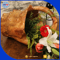 popular cheap price unique basket for flowers wood gift