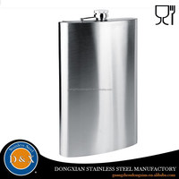 custom 16oz painting stainless steel hip flask