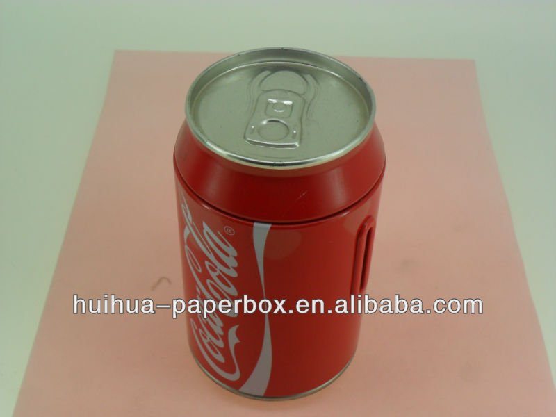 tin beverage can
