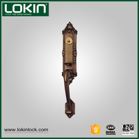 American Tubular Type Zinc Alloy Handle Door Lock For Exterior Door
