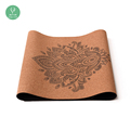 Dropship Superior Materials Eco-friendly Printing Cork Yoga Mat