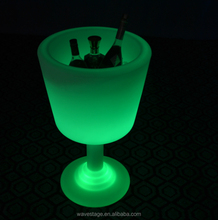 LED Illuminated Champagne Ice Bucket with Stand