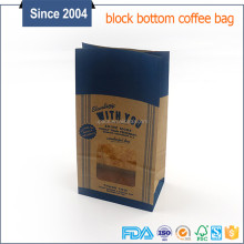 Resealable peacock paper bags paper bag for tea with customized logo