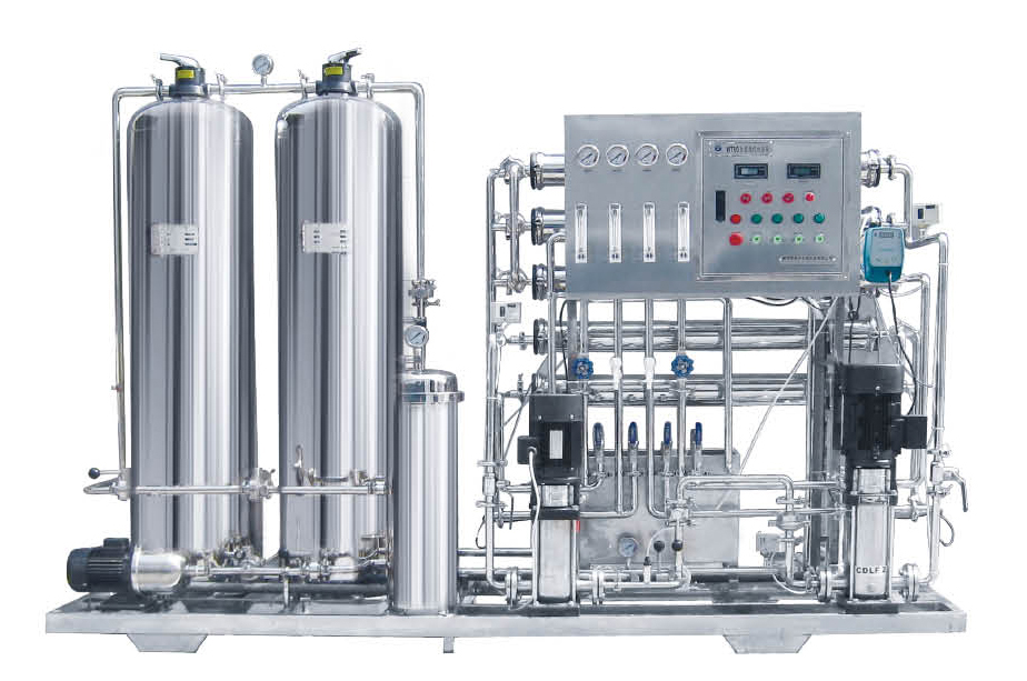 industrial stainless steel Reverse Osmosis filtration water treatment plant