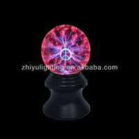 2014 hot sell 5 inch plasma ball with peace symbol touch magic decoration lamp