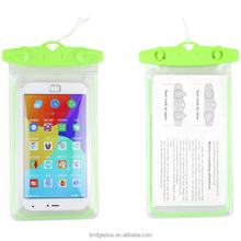 Hi Q IPX8 luminous plastic waterproof cell phone bag for swimsuit
