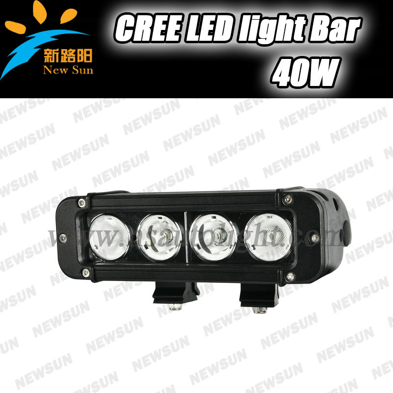 "New and Hot Waterproof IP67 c ree led 7.8"" 40W off road 4wd light led light bar c ree for motorcycle Atv SUV truck Pick up"