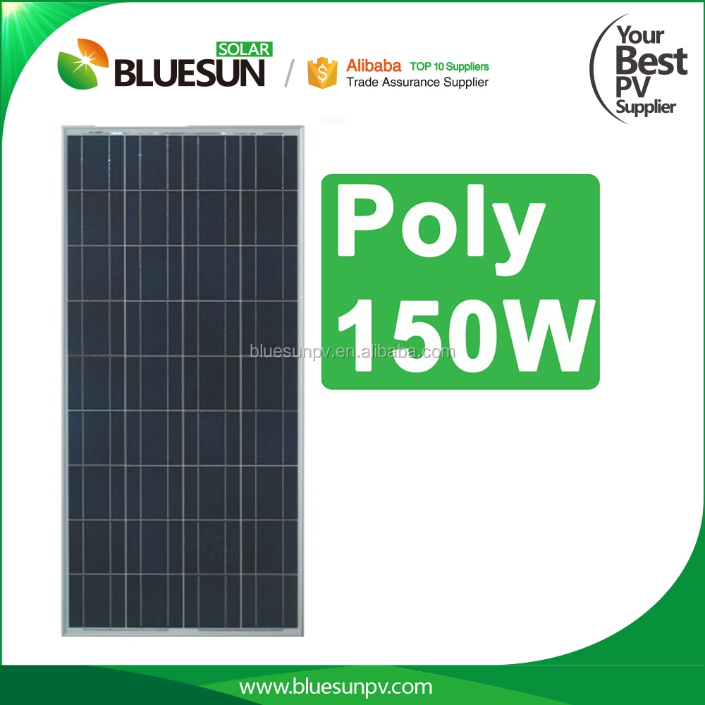 Bluesun crystal solar panel Poly 150w 36 cells 150wp panels pv module