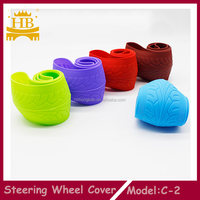 Light stretchy silicone car steering wheel cover