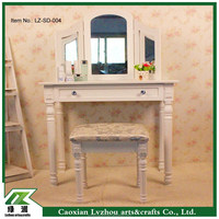 dressing table with mirror /makeup table /french wooden dresser
