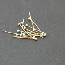 Wholesale Approx 3000pcs/lot Head Pin Gold 16MM Ball Jewelry Findings DH-FZD003-19
