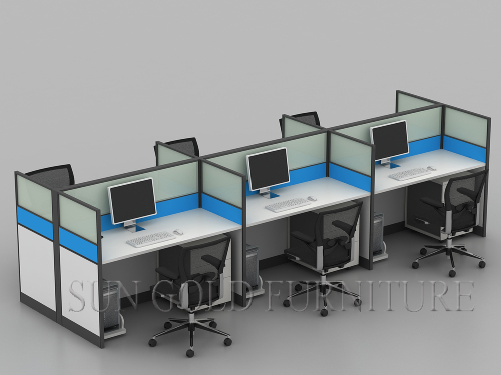 Modern Office Layout Computer Workstation Divider Sz