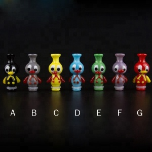 NEW ARRIVAL 510 Glass Drip Tip Ugly Duckling Mouthpiece Duck Drip Tip 510 for TFV8 Baby / Kayfun V5/Taifun GT3 Mini
