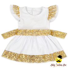 New Model Western Style Sequin Cotton Fancy Dresses Names Of Girls Dresses Summer