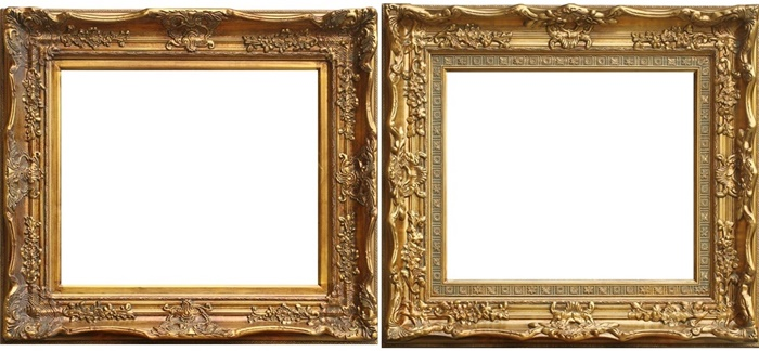 Ornate Rococo Style Gold/Silver Large Wood Frame for Paintings