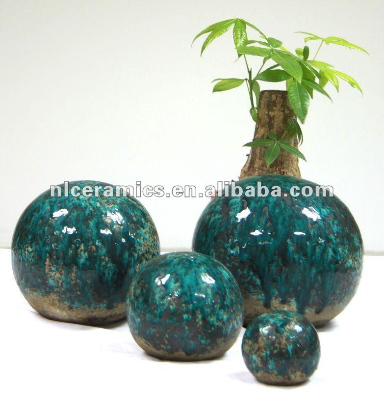 D coration en c ramique jardin bal pots fleurs for Deco jardin ceramique