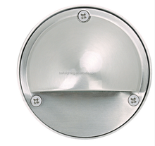 Stainless steel waterproof E27/LED round outdoor wall light